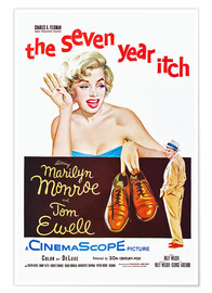 Poster  THE SEVEN YEAR ITCH, Marilyn Monroe, Tom Ewell