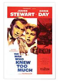Poster  THE MAN WHO KNEW TOO MUCH, James Stewart, Doris Day