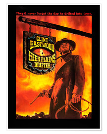 Poster  HIGH PLAINS DRIFTER, Clint Eastwood