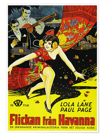 Poster  THE GIRL FROM HAVANA, (FLICKAN FRAN HAVANNA), Lola Lane