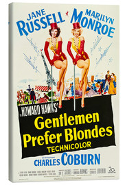 Toile  GENTLEMEN PREFER BLONDES, Jane Russell, Marilyn Monroe