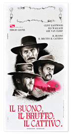 Poster  THE GOOD, THE BAD, AND THE UGLY (IL BUONO, IL BRUTTO, IL CATTIVO), Lee Van Cleef, Eli Wallach, Clint