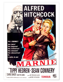 Poster  MARNIE, Alfred Hitchcock, Sean Connery, Tippi Hedren