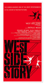 Poster  WEST SIDE STORY, Natalie Wood, Richard Beymer, Russ Tamblyn