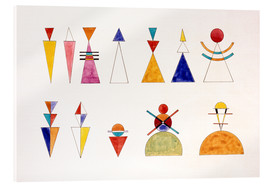 Verre acrylique  Pictures at an Exhibition, numbers - Wassily Kandinsky