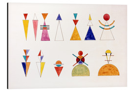 Alu-Dibond  Pictures at an Exhibition, numbers - Wassily Kandinsky