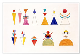 Poster  Pictures at an Exhibition, numbers - Wassily Kandinsky