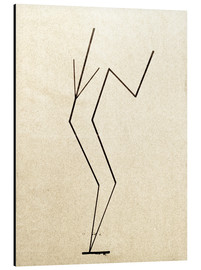 Alu-Dibond  Analytical drawing after photos of dancing?.. - Wassily Kandinsky