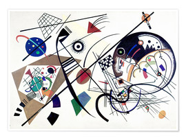 Poster  Lignes continues - Wassily Kandinsky