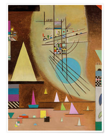 Poster  Le silence s'installe - Wassily Kandinsky