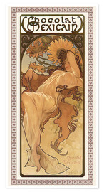 Poster  Chocolat Mexicain, Autumn - Alfons Mucha