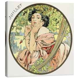 Toile  Les Mois - July - Alfons Mucha