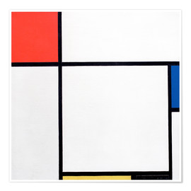 Poster Composition Red, Blue, Yellow, Black