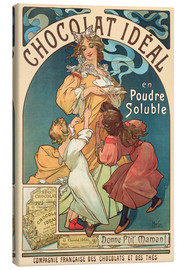 Toile  Chocolat idéal - Alfons Mucha
