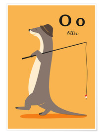 Poster O wie Otter (allemand)
