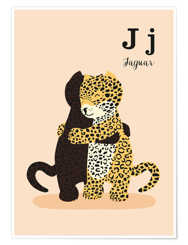 Poster L'alphabet des animaux - J like Jaguar