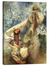 Tableau sur toile  Lily Madonna - Alfons Mucha