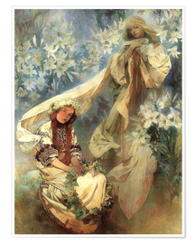 Poster  Lily Madonna - Alfons Mucha