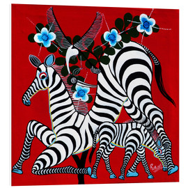 Tableau en PVC  Zebras in the Wild - Rubuni