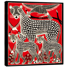 Toile  Black Cheetah family - Rubuni