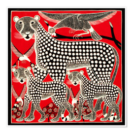 Poster  Black Cheetah family - Rubuni