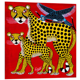 Tableau en PVC  Cheetahs on tour - Rubuni