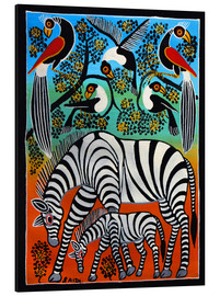 Tableau en aluminium  Zebras under a wild tree - Saidi