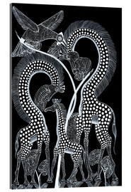 Tableau en verre acrylique  Black Animals in the wild - Rubuni