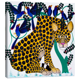 Toile  Cheetah seeks protection under the bird tree - Omary