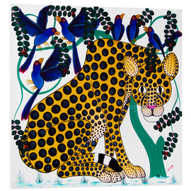 Tableau en PVC  Cheetah seeks protection under the bird tree - Omary