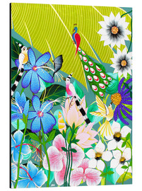 Tableau en aluminium  Flower buket in the rainforest - Wasia