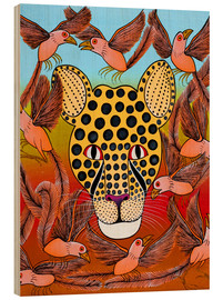 Tableau en bois  Dream of a cheetah - Omary