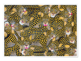 Poster  Large cheetah cuddle - Omary