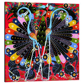 Tableau en aluminium  Peacock in courtship - Stephan