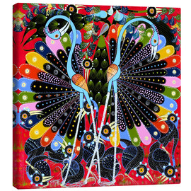 Tableau sur toile  Peacock in courtship - Stephan