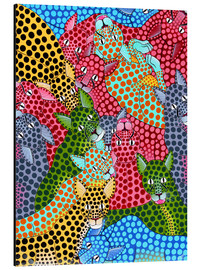 Tableau en aluminium  Colorful Cheetah meeting - Omary
