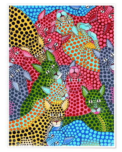 Poster Colorful Cheetah meeting
