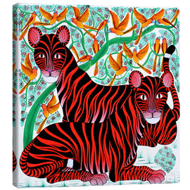 Tableau sur toile  Resting big cats - Omary