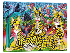Tableau sur toile  Leopard pack - Omary
