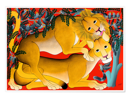Poster Mating with lions