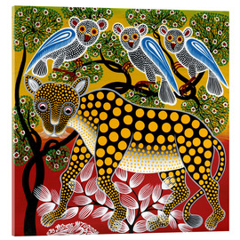 Tableau en verre acrylique  Cheetah in the bush - Mzuguno