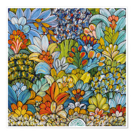 Poster  Colorful foliage - Mzuguno