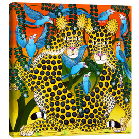 Toile  Cheetahs united in the twilight - Omary