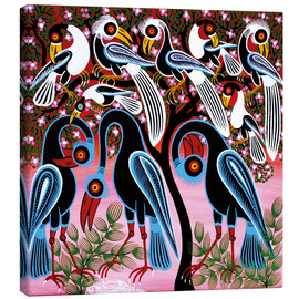 Tableau sur toile  Flock of birds in the bush - Mzuguno