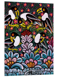 Tableau en PVC  Toucans in the foliage - Mzuguno