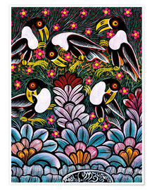 Poster  Toucans in the foliage - Mzuguno