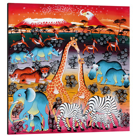 Tableau en aluminium  Animals under the stars - Mzuguno