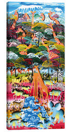 Tableau sur toile  Overlooking the rainforest - Mustapha