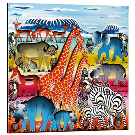 Tableau en aluminium  Animal life in Africa - Mrope