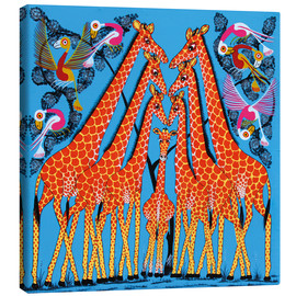 Tableau sur toile  Dance of the Giraffe - Mrope
